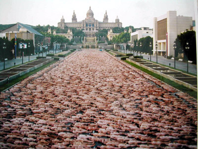 Spencer Tunick photo. Barcelona, Spain