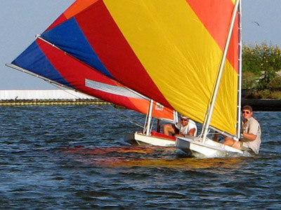 Sunfish races. Rockport, Texas