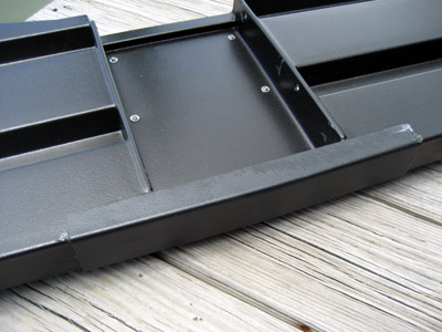 Porta-bote transom reinforcement