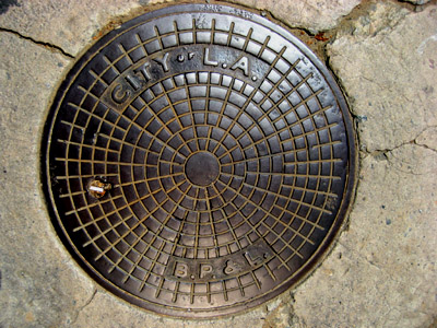 Manhole. Los Angeles, California