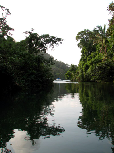 Anchored on the Rio Chagres, Panama, Central America