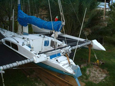Kurt Hughes 30 trimaran rudder Side Effects