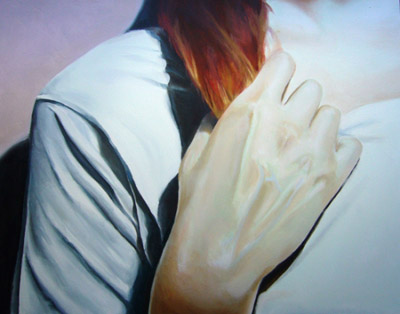 (neko case) hand by Brad Wright - oil on panel, 14 x 11 inches, 7/2007