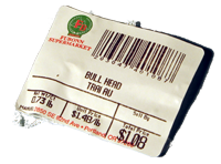 Trai Au Bull Head Fubonn supermarket produce label