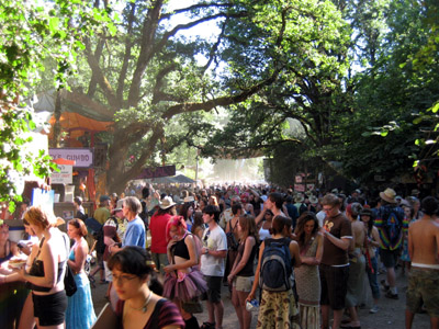 Oregon Country Fair Crowd Shot