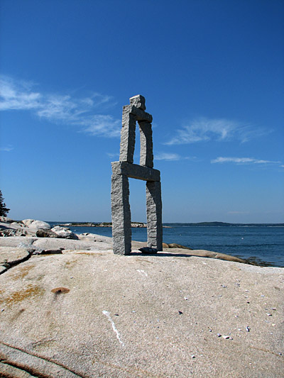 granite tower sculpture, dix island, Maine