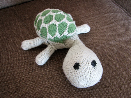 hand knit turtle