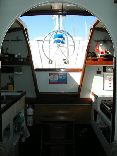Jim Brown designed Searunner 31 trimaran Time Machine galley