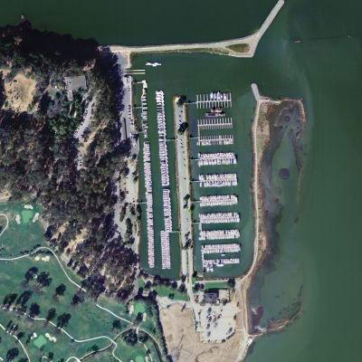USGS aerial view of Coyote point