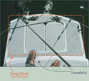 Poop deck diagram Searunner 31