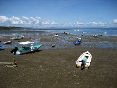 boats at Puerto Jimenez, Costa Rica