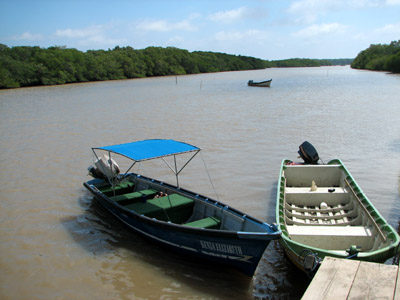 Pangas on the Rio Lempa, El Salvador