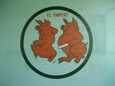 El Pampero Hand Painted Sign, Panama
