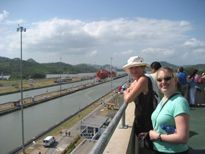 cheyenne and michelle. miraflores locks. Panama Canal