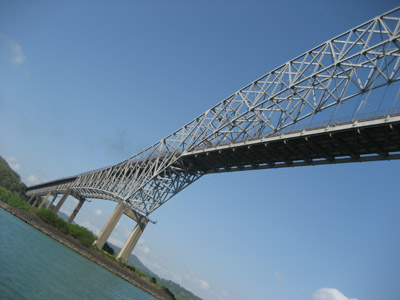 The bridge of the Americas. Panama Canal