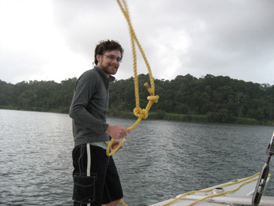 Ben with Rope. Gatun Lake, Panama Canal