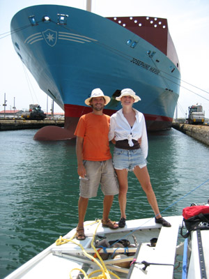 Cheyenne and Joshua. Gatun Locks, Panama Canal