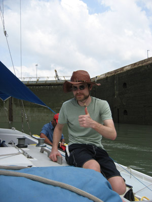 Ben says we're ready. Pedro Miguel Locks. Panama Canal