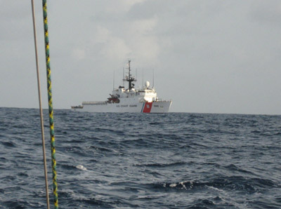 Threatened by the United States Coast Guard USCG