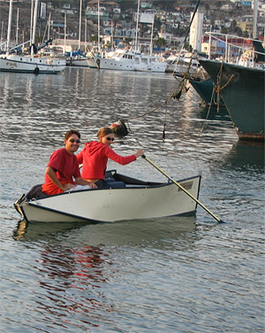 Rowing in Ensenada Harbor, Baja California Norte, Mexico