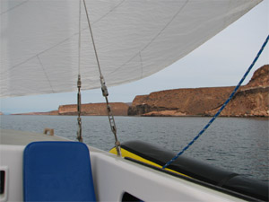 Sailing between Isla Ballena and Isla Espiritu Santo, Mexico