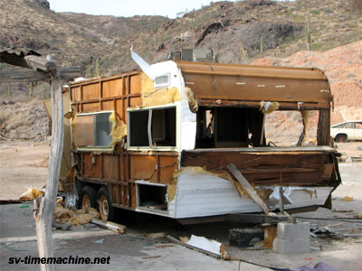 ruined trailer