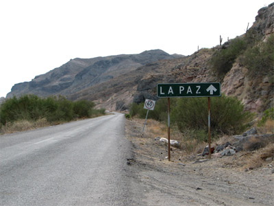 Road Sign to La Paz