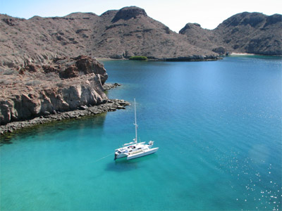 Searunner 31 anchored at Honeymoon Cove, Isla Danzante, Sea of Cortez, Mexico