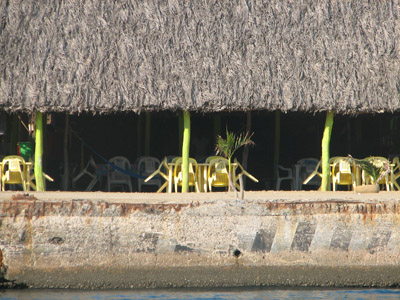 Restaurant on the wharf at Papanoa, Mexico