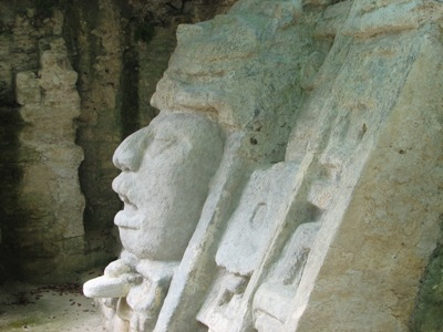The Mask Temple at Lamanai Mayan Ruins, Belize