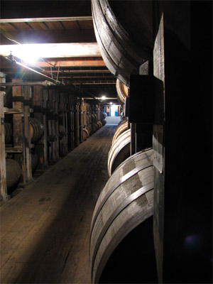 Bourbon Barrles. Buffalo Trace Distillery, Franklin, Kentucky