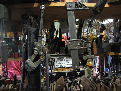tools at a salvage store. Maine