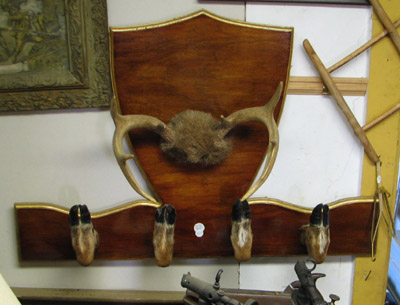 deer foot coat hanger