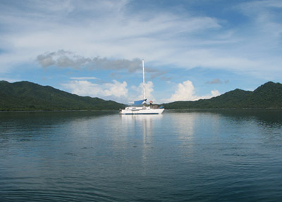 Searunner 31 anchored in Bahia Santa Elena, Costa Rica